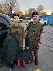 Nico and Eleni Field Training exercises October 2019